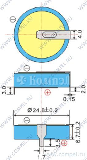 Ионистор - Напряжение: 5.5 В;