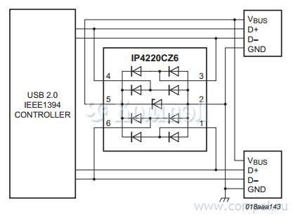 Схема включения IP4220CZ6