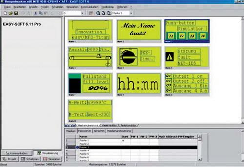 Примеры блоков визуализации в пакете EasySoft
