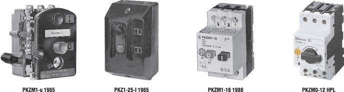 История развития автоматических выключателей Moeller для защиты двигателя