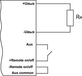 Схема дистанционного включения/выключения AC/DC-преобразователя CPFE500F