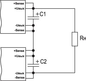 Схемы каскадирования модулей питания CPFE500F