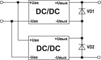 Схема последовательного включения DC/DC-преобразователей
