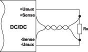 Схема подключения выносной обратной связи DC/DC-преобразователя