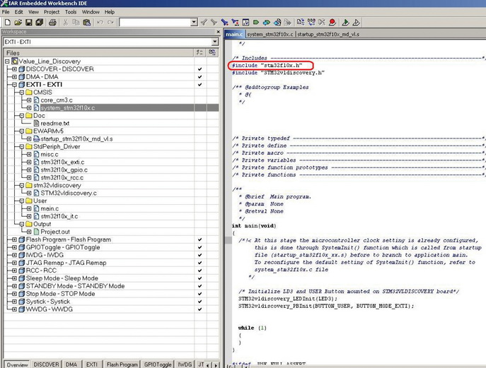 Основной файл проекта main.c