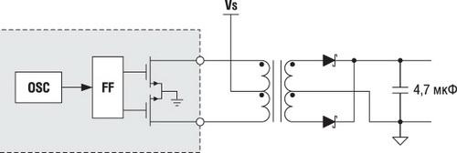 Упрощенная схема трансформаторного драйвера