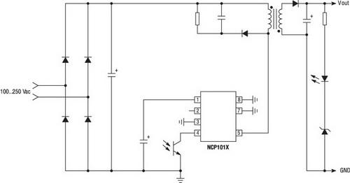 NCP1014 в схеме