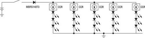 Схема светодиодного сигнала CHMSL