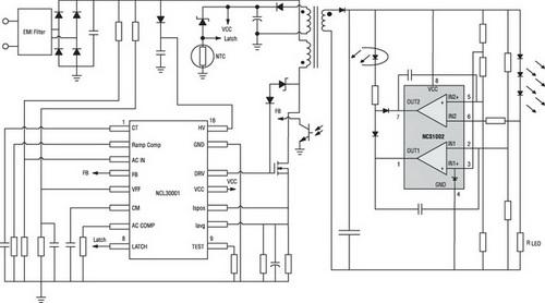 Структура преобразователя напряжения для питания светодиодных источников света