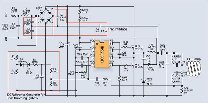 Управляемый симисторным диммером балласт люминесцентной 15 Вт спиральной лампы для сети 120 В