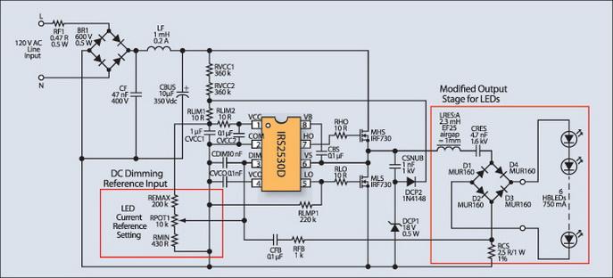 Схема сетевого LED-драйвера на