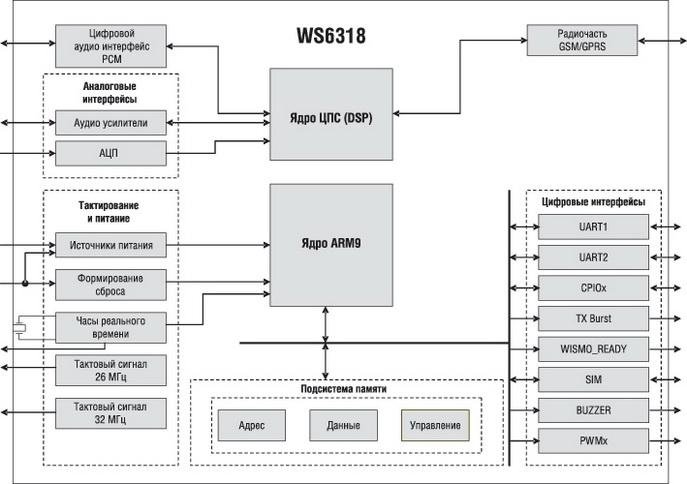 структура модуля WS6318