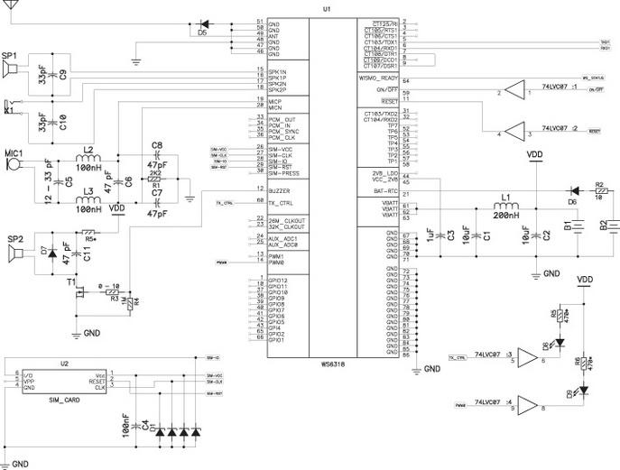 схемы включения модуля
