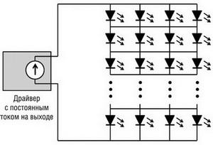 Схема включения типа «матрица»