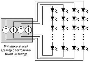 Схема мультиканального включения
