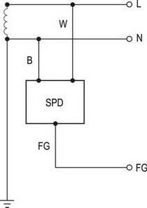 Схема подключения SPD-20-240P и SPD-20-277P