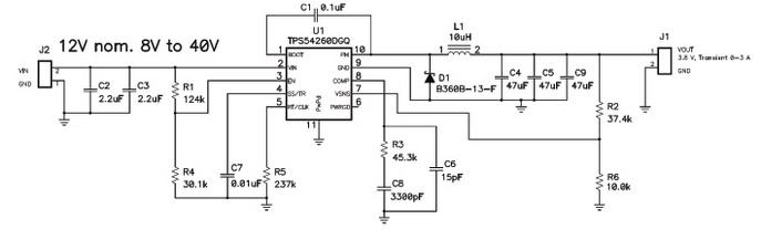 Схема питания GSM/GPRS-модема