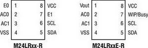Отличия в выводах между сериями M24LRxx и M24LRxxE