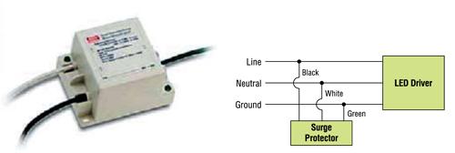Модуль защиты от импульсов повышенной энергии и схема включения
