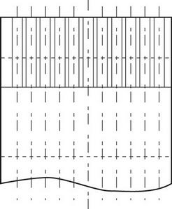 Типичное расположение контактных площадок на гибких шлейфах