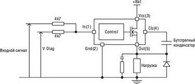 Схема включения ШИМ IPS верхнего уровня AUIPS7221
