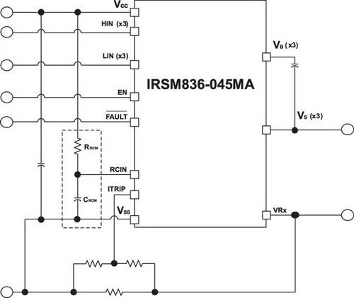 Схема включения RC-цепочки для программирования таймера сброса