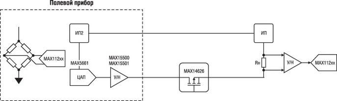 Схема реализации токовой петли