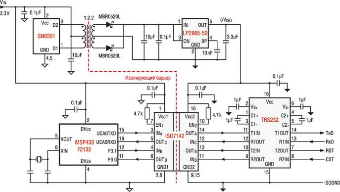 Гальванической развязкой usb кабель схема