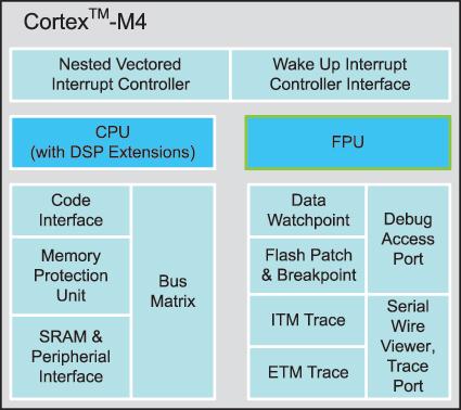 Структура ядра CortexTM-M4