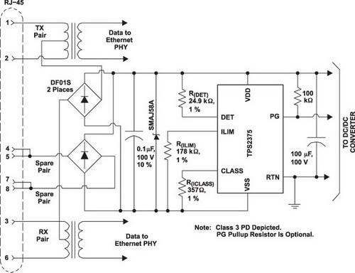 Типовая схема применения TPS2375