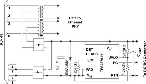 Типовая схема применения TPS2376-H