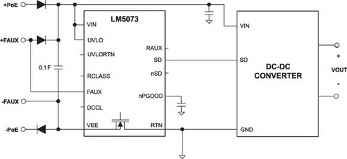 Упрощенная схема применения LM5073