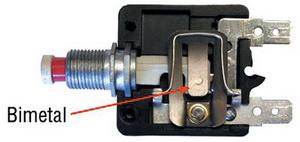 Низкая цена и высокая надежность биметаллического выключателя - следствие простой, проверенной временем конструкции