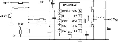 Типовая схема включения контроллеров TPS40192/ TPS40193