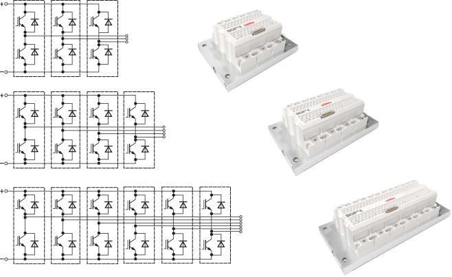 Принципиальные схемы и внешний вид линейки модулей SKiiP4