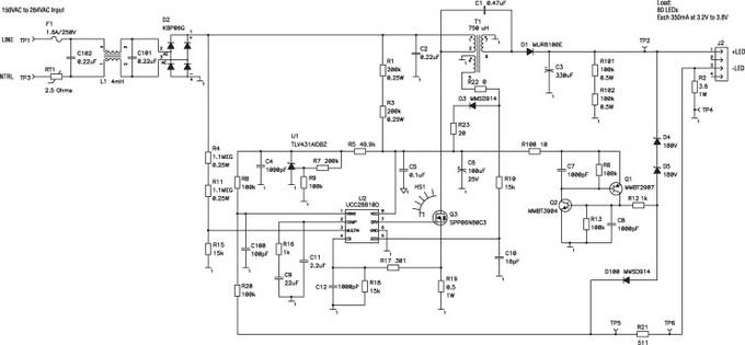 Электрическая схема источника