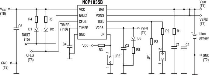 Схема для отладки NCP1835B