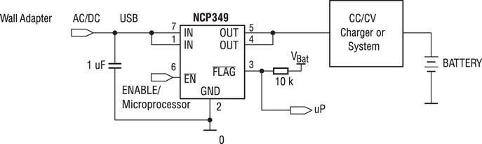 Схема применения NCP349