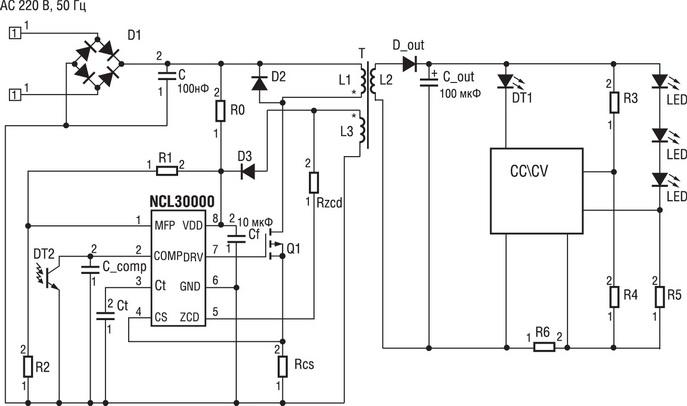 светодиодов на NCL30000