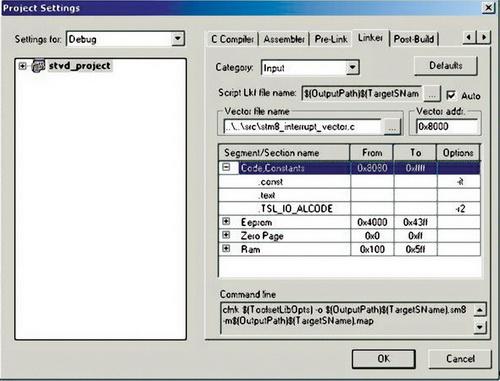 Конфигурирование сенсорной библиотеки для Cosmic software