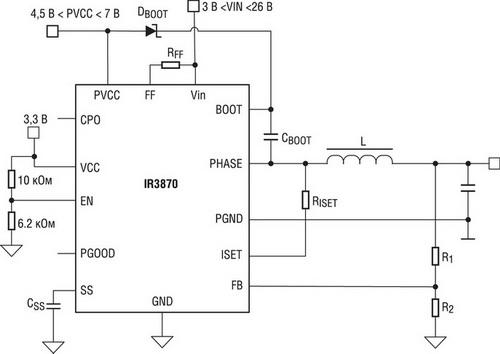 Схема подключения IR3870M
