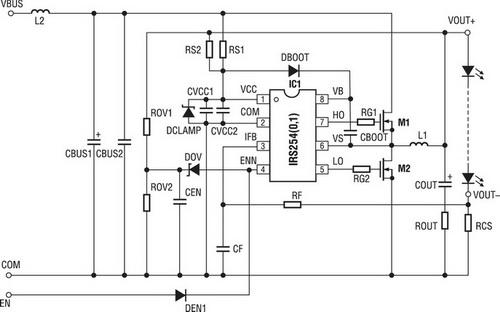 LED-преобразователь IRS25401