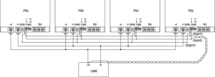 Параллельное включение модулей RSP-1000
